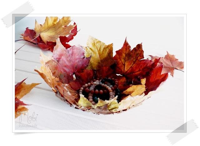 home decor, DIY, jesienne dekoracje, jesienne inspiracje, jesień, tutorial,  liście, misa,