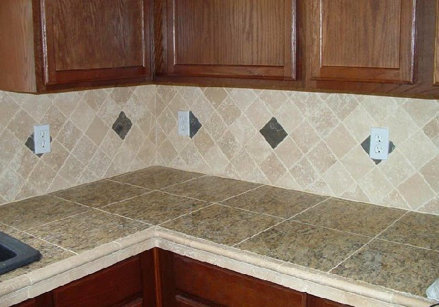 Natural Marble Tile Countertop