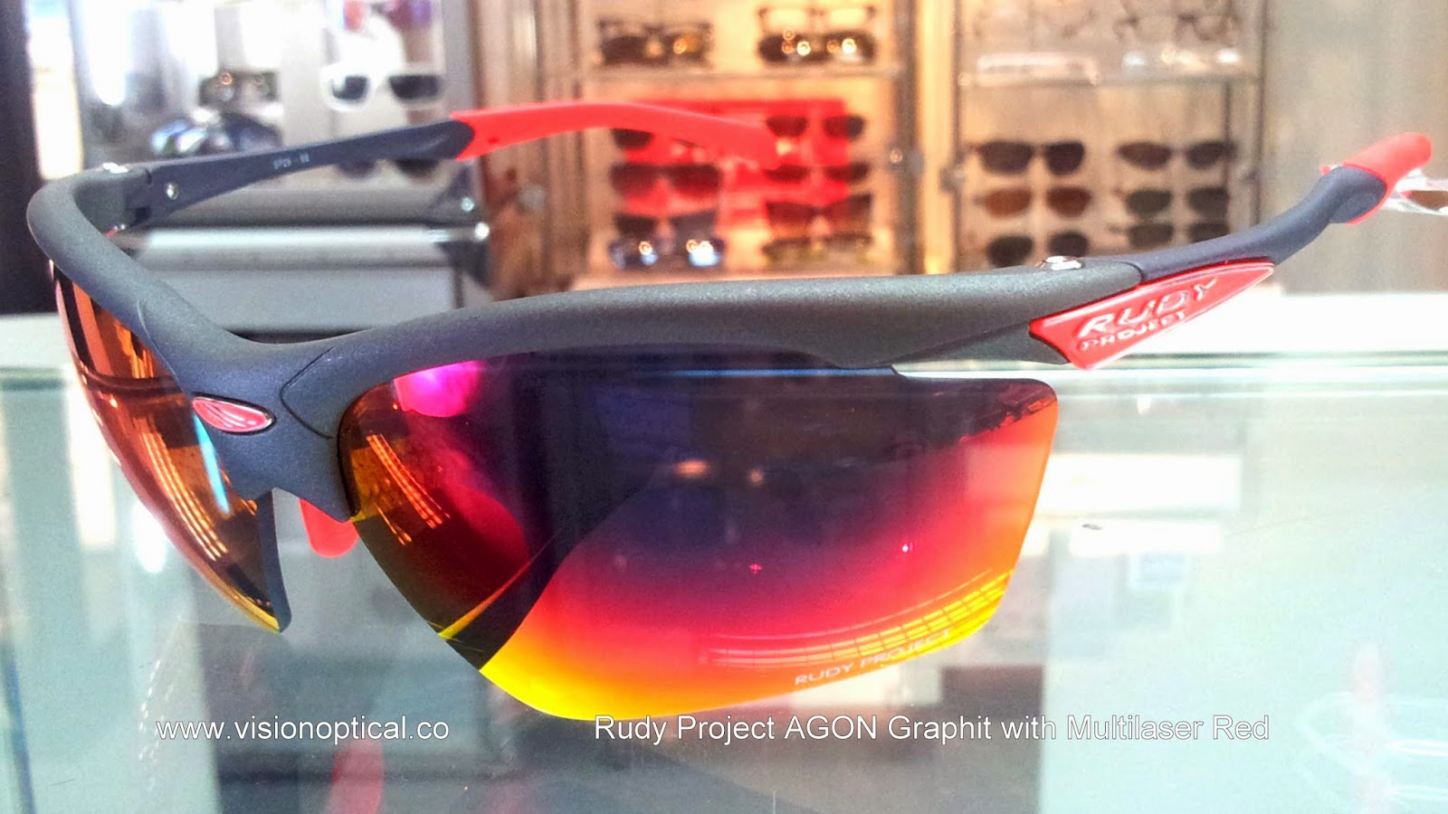 Rudy Project Agon Graphite Multilaser Red 太陽眼鏡