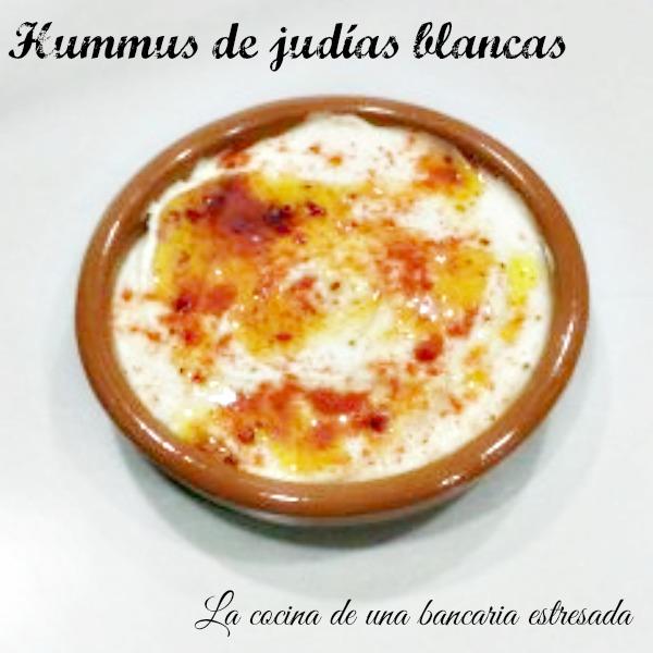 Receta de hummus de judías blancas, paso a paso y con fotografías