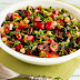 Chickpea (Garbanzo Bean) Salad with Tomatoes, Olives, Basil, and Parsley