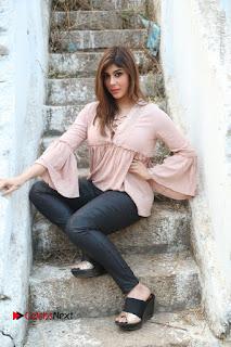 Telugu Actress Aditi Singh Stills in Leather Pants at Nenu Kidnap Iyanu Movie Press Meet  0222.JPG
