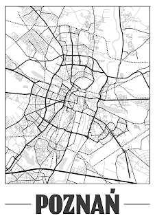 Plakat plan miasta Poznań