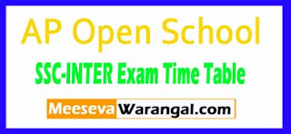 Andhra Pradesh Open School Society SSC Inter (APOSS) 2017 Exam Time Table