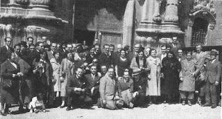 Los excursionistas del Club Ajedrez Barcelona en 1933