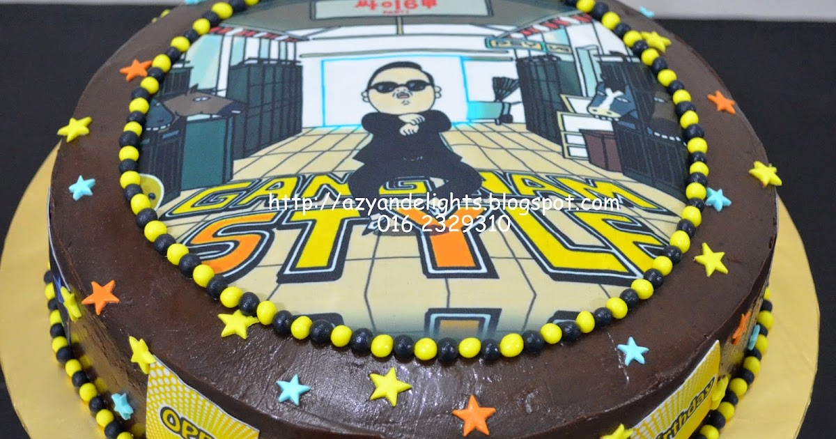 Azyandelights Gangnam Style Theme Cake