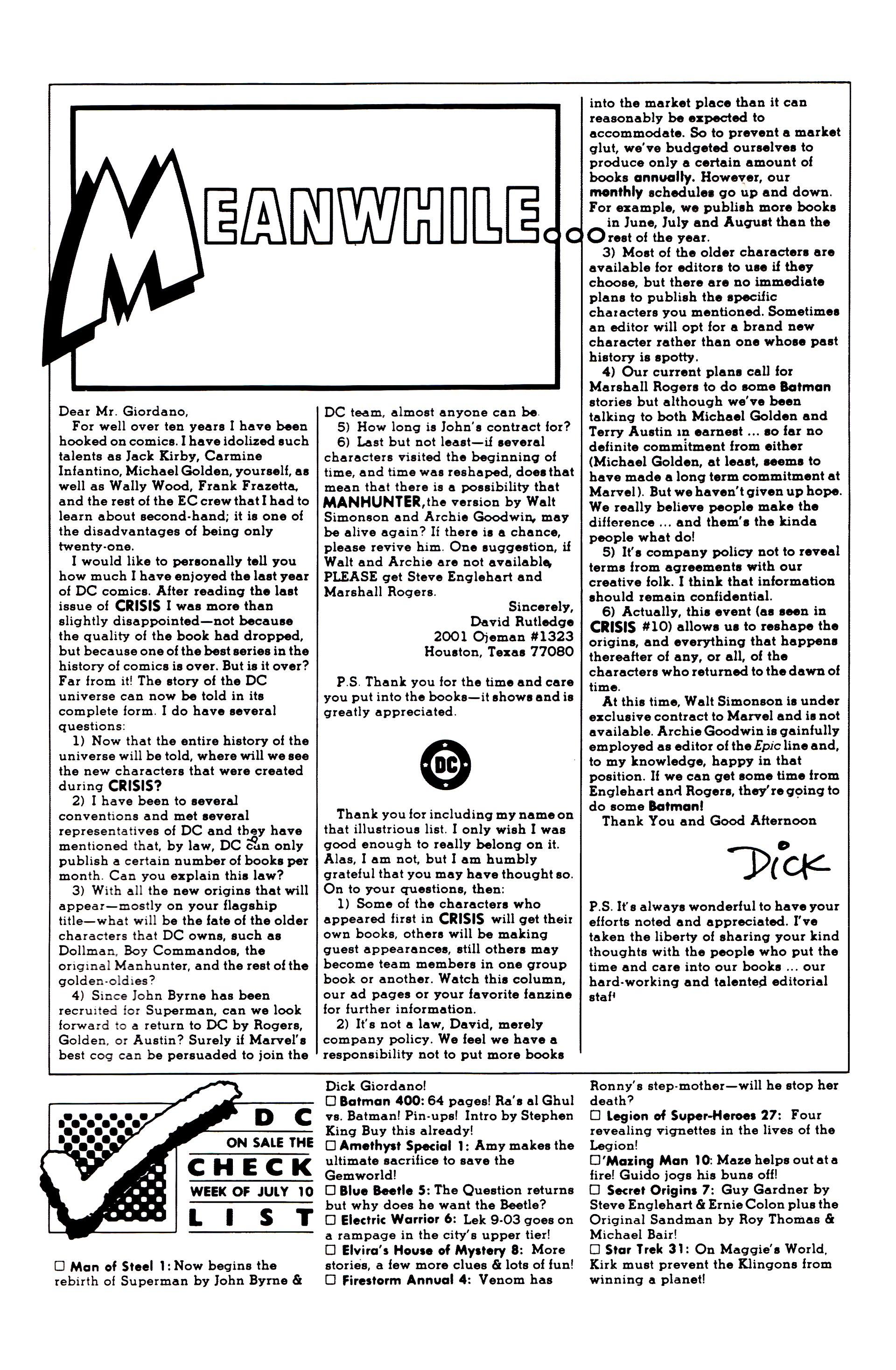 Read online Secret Origins (1986) comic -  Issue #7 - 51