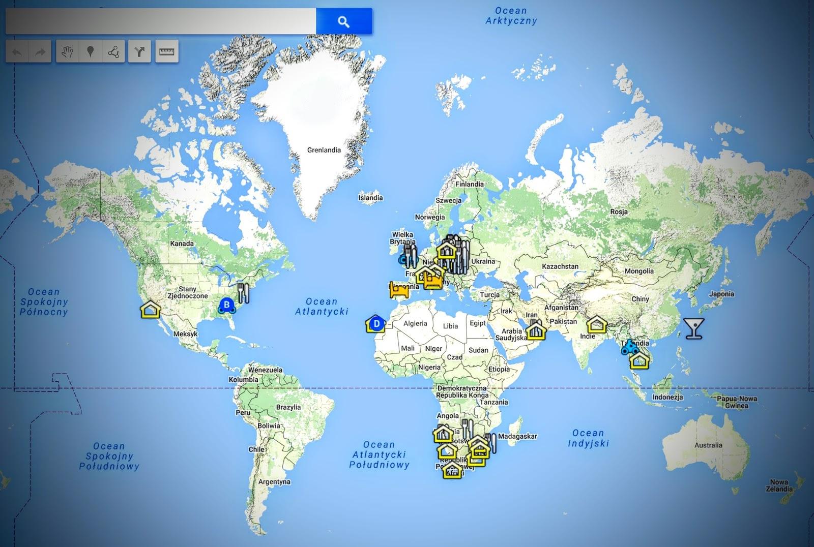 WORLD MAP of BIKERS FRIENDLY PLACES - Mapa miejsc przyjaznych motocyklistom. Bajkersowe miejscówki - gdzie warto zajrzeć?