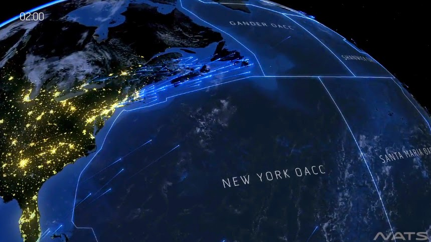 Amazing Video: Beautiful Visualization Shows 3000 Flights Over the North Atlantic