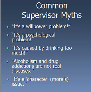 list of myths supervisors maintain about alcohol on the breath
