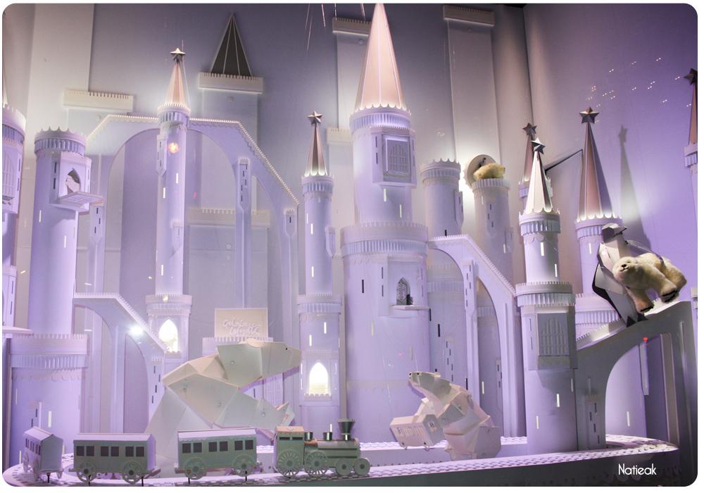 les vitrines  de Noël Lorenzo Papace aux Galeries Lafayette
