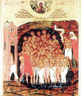 Святые 40 мучеников, в Севастийском озере мучившиеся