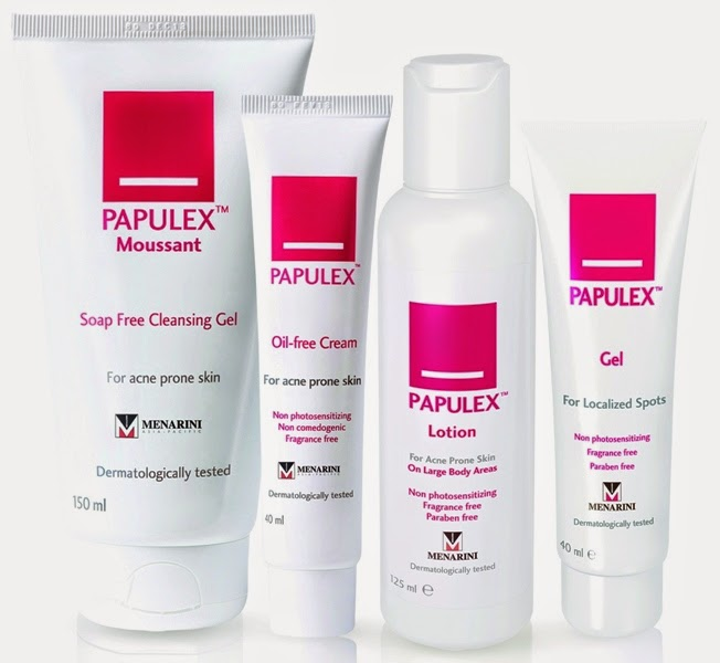 Papulex Gel, Papulex Anti-Blemish Gel, Papulex Soap Free Cleansing Gel, Oil-Free Cream, Lotion, Gel,
