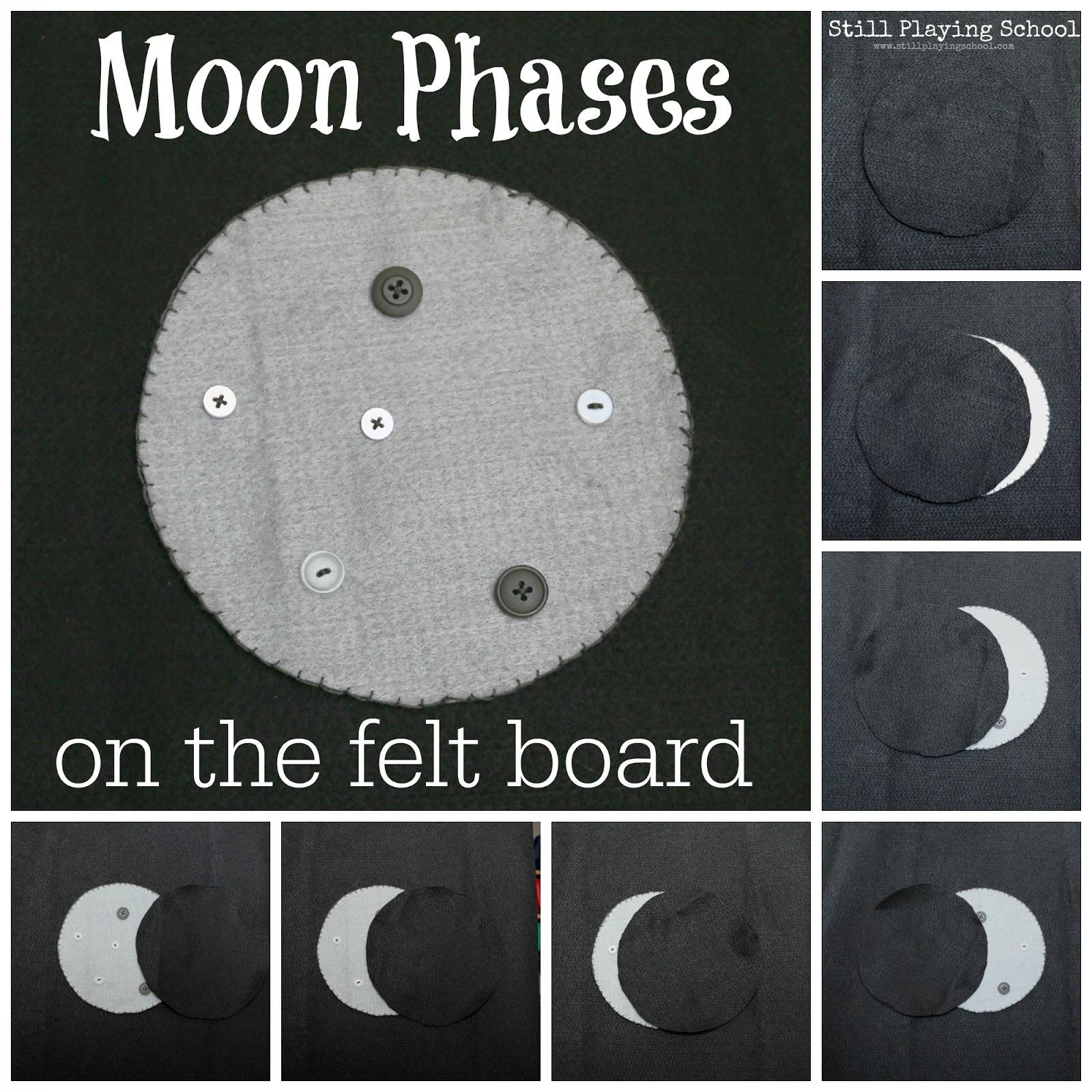 Moon Phases On The Felt Board