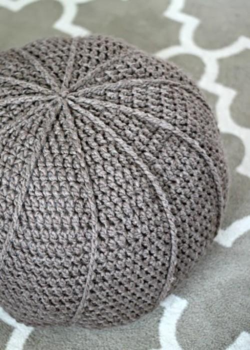Crochet Floor Pouf - Free Pattern