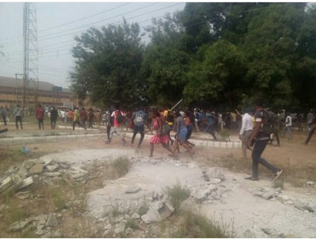 FUTO: Students gives reasons why they embarked on a massive protest