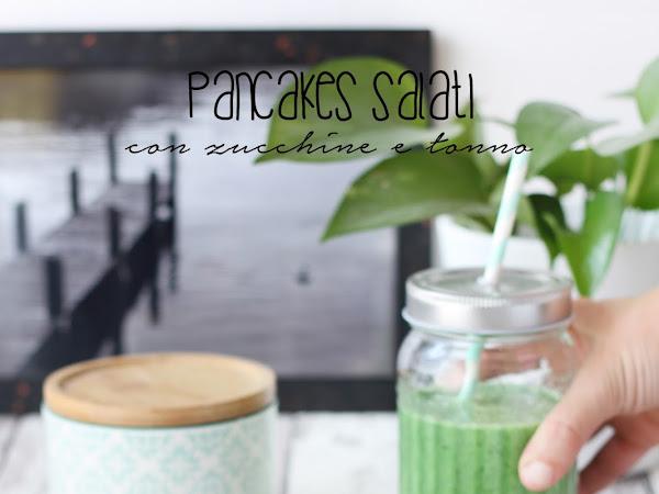 Pancakes salati con zucchine e tonno