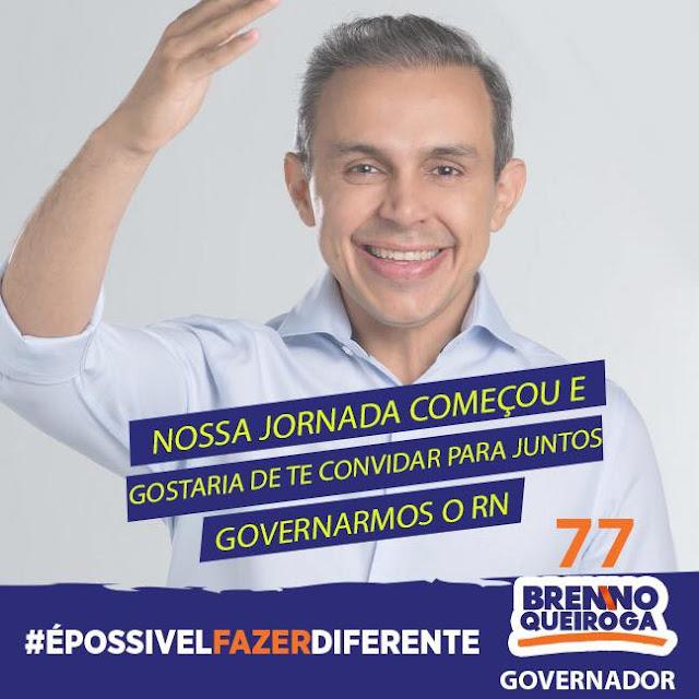 Brenno Queiroga oficializa candidatura ao governo do RN
