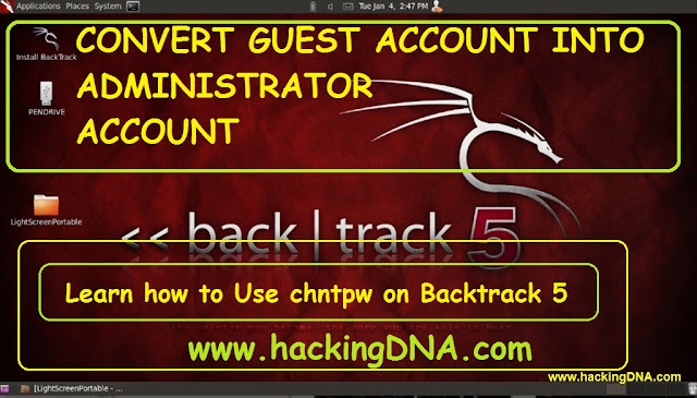convert guest account  into admin using chntpw