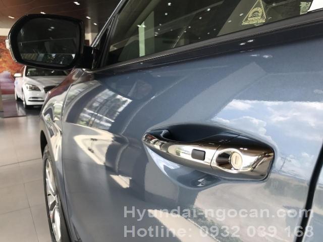 Santafe 2017 màu xanh Hyundai Santafe 2017 máy dầu màu xanh ngoai that santafe 2016 mau xanh 2B 25283 2529