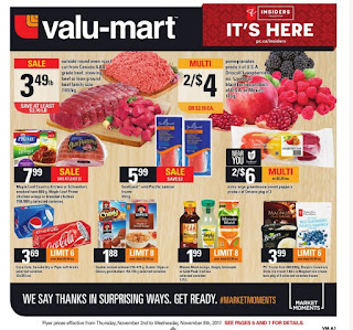 Valu mart Ontario Flyer November 2 - 8, 2017
