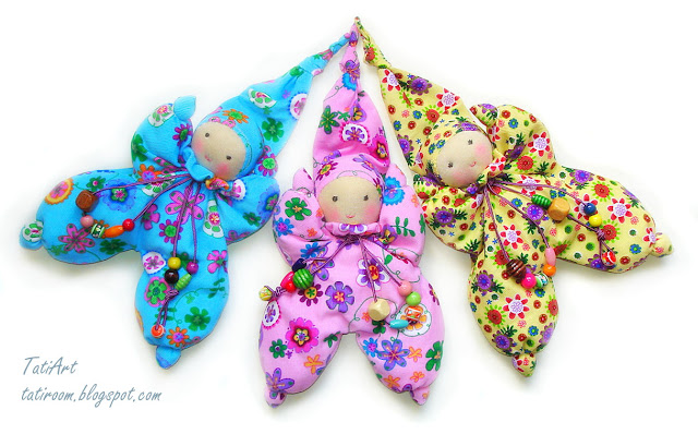 TatiArt. Natural dolls and toys.  Куклы-бабочки, Малышастики ad55c0a7549