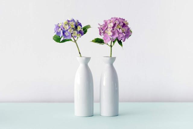 Two hydrangea vases | Maarten Deckers