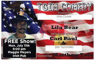TGIM Comedy - July 11