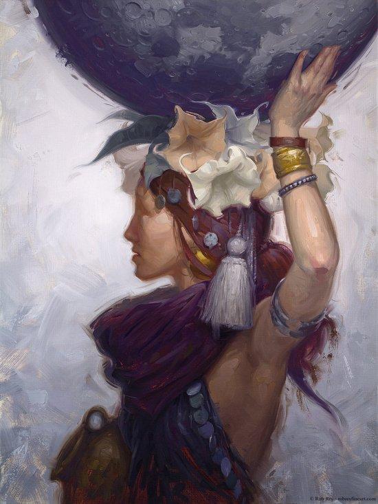 Rob Rey deviantart pinturas a óleo retratos fantasia surrealismo mulheres planetas espaço deusas beleza