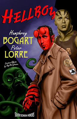 Hellboy featuring Humphrey Bogart as the red one himself and Peter Lorre as Abe Sapien