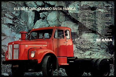 Scania,  anos 70.  brazilian advertising cars in the 70. história da década de 70; Brazil in the 70s; propaganda carros anos 70; Oswaldo Hernandez;
