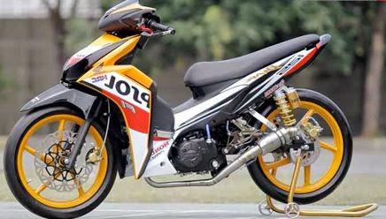 Modifikasi Motor Honda Blade Repsol Simpel