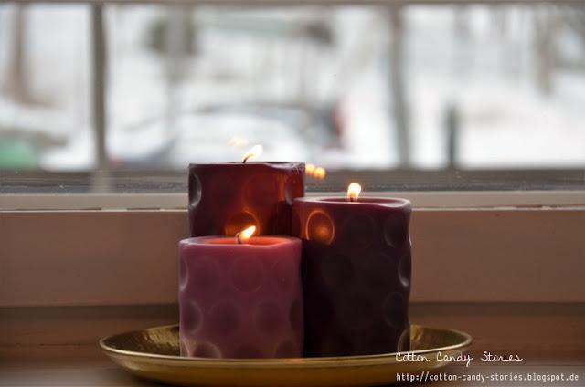 Duftkerzen gegen den Winterblues