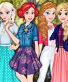 لعبة تلبيس الاميرات ملابس الربيع