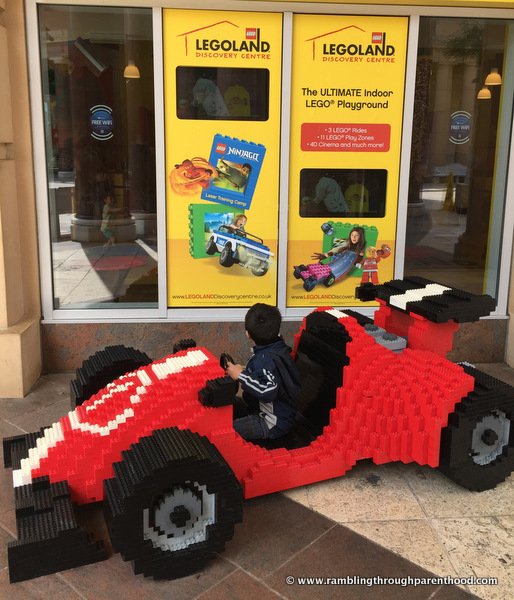 My boy racer test-drives a Ferrari at Legoland Discovery Centre, Manchester