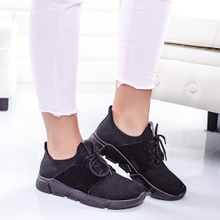 Pantofi sport Ghelani negri moderni ieftini