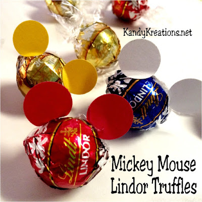 Make some yummy party treats for your next Disney party with these cute and easy Mickey Mouse Ears party treats.  With just a few seconds of work, you have a creamy, delicious treat to bring Mickey Mouse into the party.