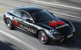 Huawei smartphone driven car
