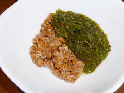 納豆に味付めかぶ