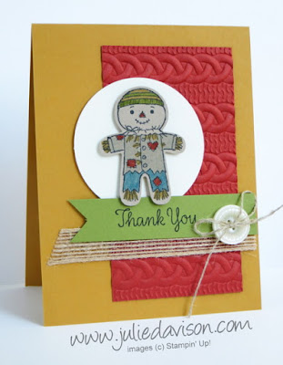 Stampin' Up! Cookie Cutter Halloween Fall Autumn Thank You Card #stampinup www.juliedavison.com