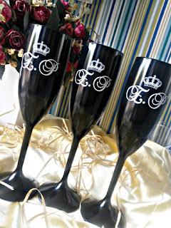 taças de acrílico personalizadas pretas