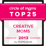 This Blog Placed #4 in the 2013 Circle of Mom Creative Mom Blog Contest