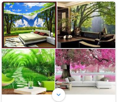 model wallpaper dinding 3D keren untuk rumah minimalis