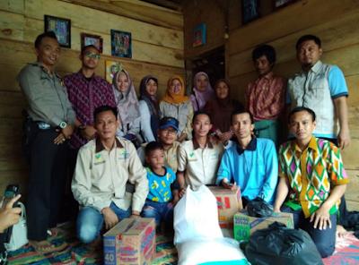 Pendamping PKH Tanggamus Bantu Korban Kebakaran di Pekon Talang Lebar Kecamatan Pugung