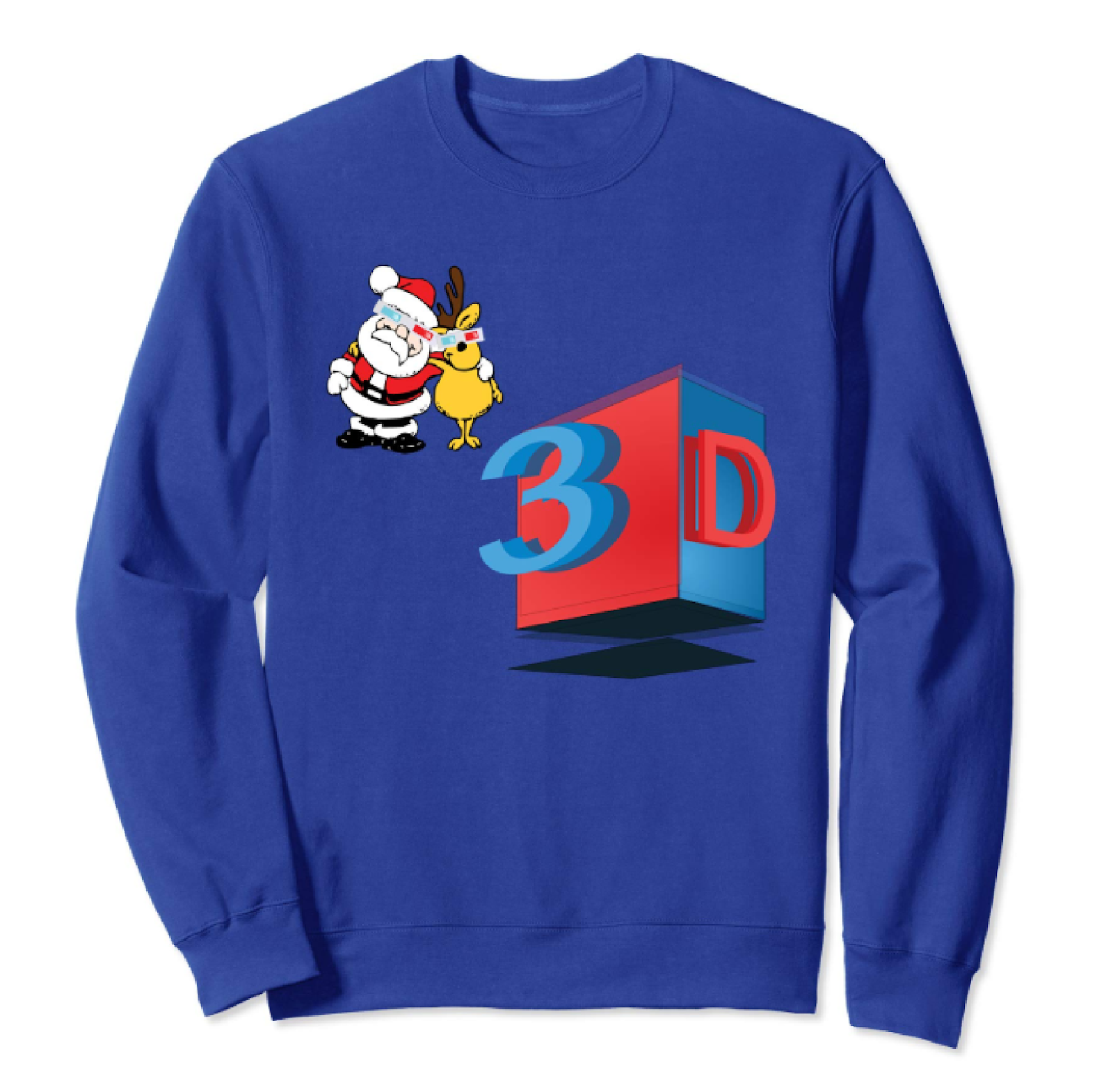 5c3dbef6a378 santa-claus-rudolph-pullover-funny-3d-christmas-sweatshirt