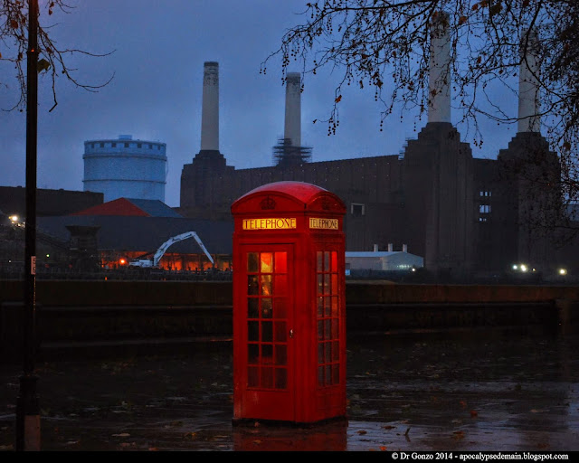 Battersea Power Station Animals Pink Floyd Phone Booth London Thames