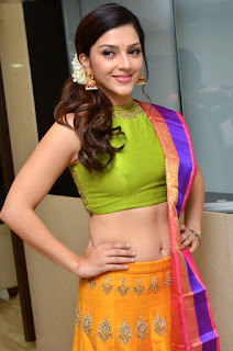 Mehreen Kaur Pirzada in lovely green Choli Yellow Ghagra Wishes you happy Diwali