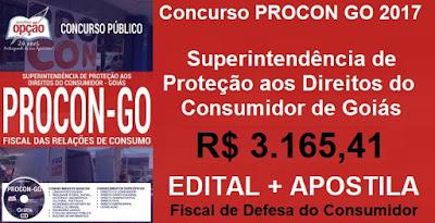 Apostila Procon Goiás (PDF) Fiscal das Relações de Consumo ProconGO