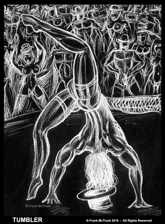 Frank McTruck cartoon art 'Tumbler'