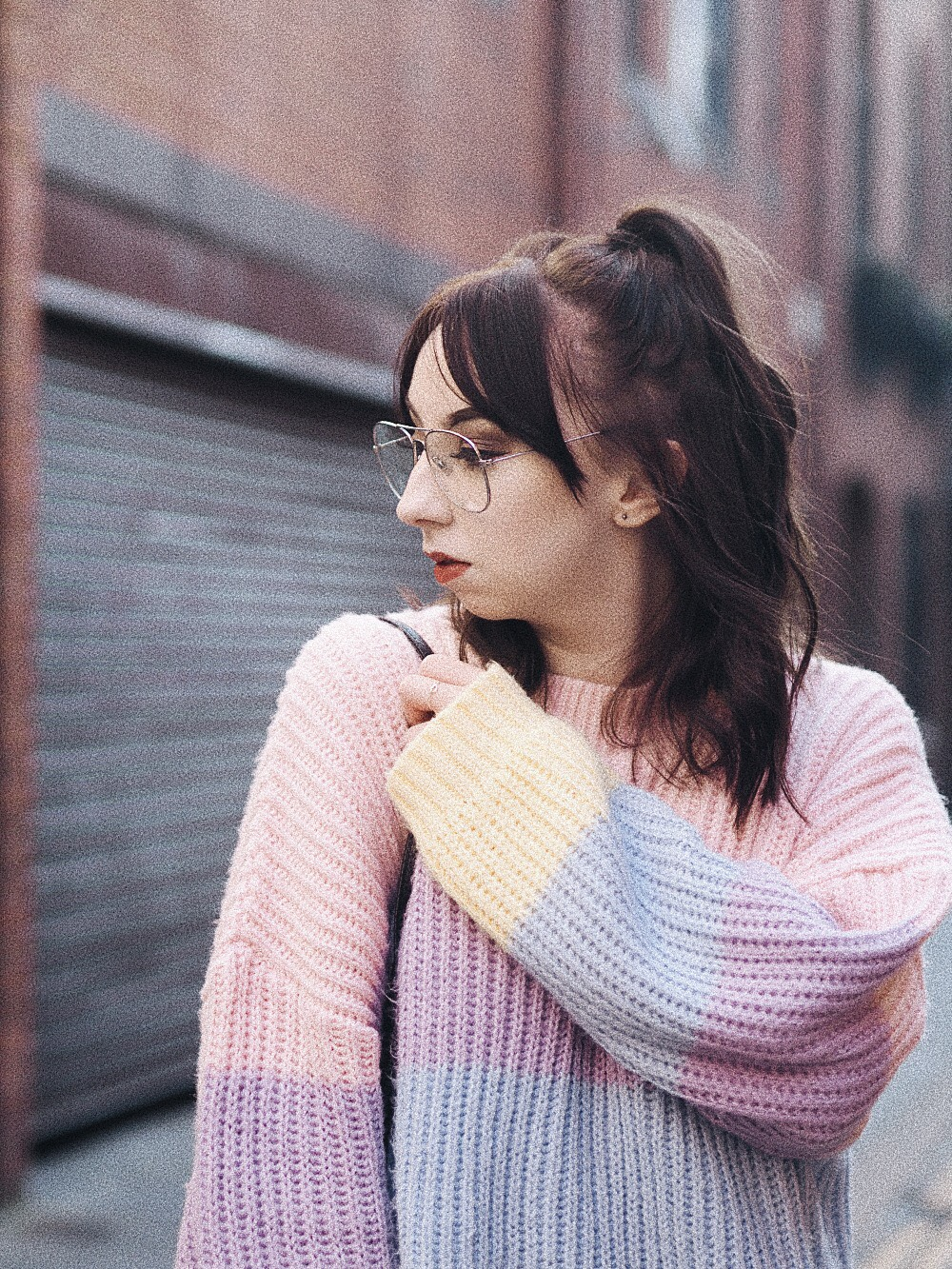 the multi coloured sweater i can't get enough of missguided personal style fashion 7